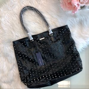 Rebecca Minkoff Studded Lover Black Leather Tote